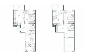 ЖК Озерный гай Гатное: планировка 4-комнатной квартиры 117.64 м²