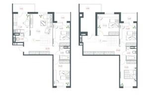 ЖК Озерный гай Гатное: планировка 6-комнатной квартиры 180.3 м²