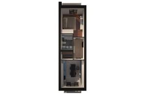 ЖК Palais Royal: планування 1-кімнатної квартири 53.72 м²