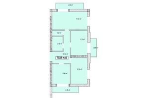 ЖК Паннонія: планування 1-кімнатної квартири 73.08 м²