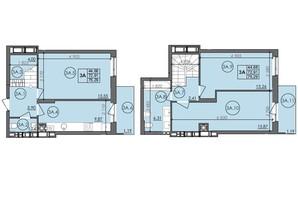 ЖК Panorama: планировка 3-комнатной квартиры 75.29 м²