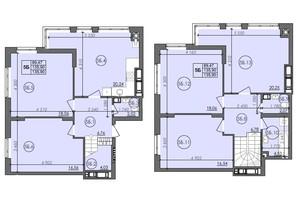 ЖК Panorama: планировка 5-комнатной квартиры 135.9 м²