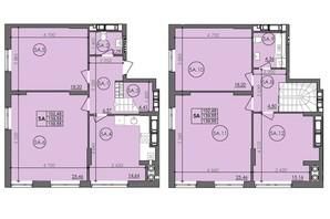 ЖК Panorama: планировка 5-комнатной квартиры 139.55 м²