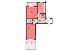 ЖК Panorama: планування 2-кімнатної квартири 73.34 м²
