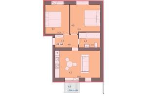 ЖК Панський маєток: планировка 2-комнатной квартиры 56.76 м²