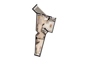 ЖК Paradise Avenue: планировка 2-комнатной квартиры 94.75 м²