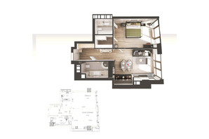 ЖК Park Avenue VIP: планировка 1-комнатной квартиры 60.5 м²