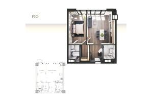 ЖК Park Avenue VIP: планировка 1-комнатной квартиры 60.9 м²