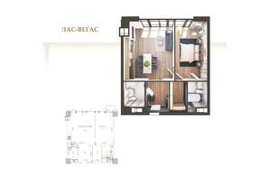 ЖК Park Avenue VIP: планировка 1-комнатной квартиры 60.2 м²