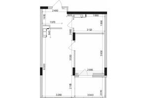 ЖК Park Lake City: планування 1-кімнатної квартири 47.3 м²