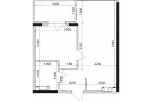 ЖК Park Lake City: планування 1-кімнатної квартири 45.27 м²