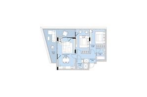 ЖК Park Lake City: планування 2-кімнатної квартири 82.37 м²