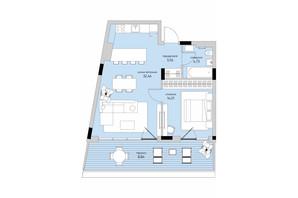 ЖК Park Lake City: планування 1-кімнатної квартири 63.63 м²
