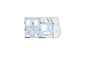 ЖК Park Lake City: планировка 3-комнатной квартиры 103.12 м²