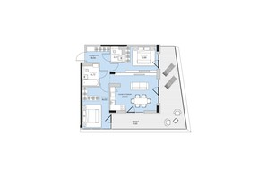 ЖК Park Lake City: планировка 2-комнатной квартиры 77.49 м²