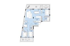 ЖК Park Lake City: планировка 3-комнатной квартиры 137.04 м²