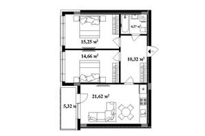 ЖК Park Land: планировка 2-комнатной квартиры 67 м²