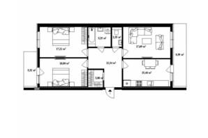 ЖК Park Land: планировка 3-комнатной квартиры 92.5 м²
