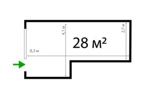 ЖК Park Land: планировка помощения 28 м²