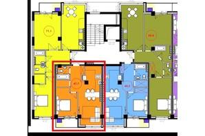 ЖК Park Residence: планування 1-кімнатної квартири 46.7 м²