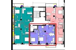ЖК Park Residence: планування 2-кімнатної квартири 59.8 м²
