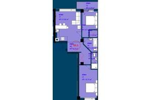 ЖК Park Residence: планировка 2-комнатной квартиры 65.3 м²