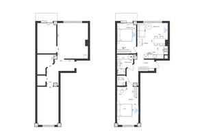 ЖК Park Residence: планировка 2-комнатной квартиры 66.9 м²