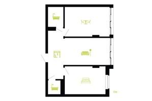 ЖК Паркова Алея: планування 2-кімнатної квартири 59 м²