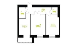 ЖК Паркова Алея: планування 2-кімнатної квартири 60 м²