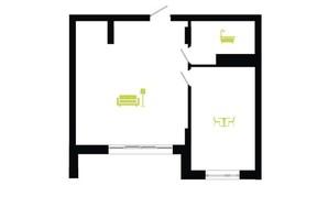ЖК Парковая Алея: планировка 1-комнатной квартиры 48 м²