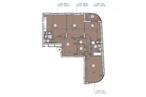 ЖК Парковые Озера 2: планировка 3-комнатной квартиры 104.3 м²