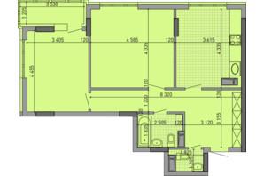 ЖК Парковый Город: планировка 2-комнатной квартиры 76.75 м²