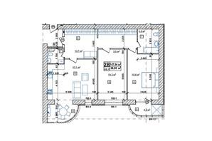 ЖК Парковий: планування 2-кімнатної квартири 108.8 м²