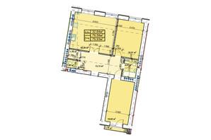 ЖК Парковый: планировка 2-комнатной квартиры 79.93 м²