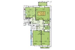 ЖК Парковый: планировка 3-комнатной квартиры 85.02 м²