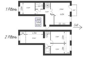 ЖК Парковый: планировка 2-комнатной квартиры 108.98 м²