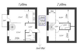 ЖК Парковый: планировка 1-комнатной квартиры 83.36 м²
