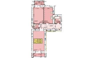 ЖК Парковый: планировка 2-комнатной квартиры 75.83 м²
