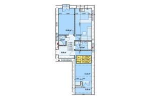 ЖК Парковый: планировка 2-комнатной квартиры 70.06 м²