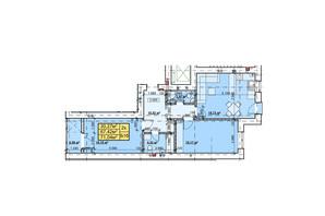ЖК Парковый: планировка 2-комнатной квартиры 71.04 м²