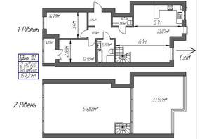 ЖК Парковый: планировка 3-комнатной квартиры 157.21 м²