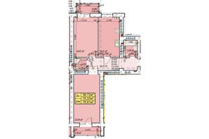 ЖК Парковый: планировка 2-комнатной квартиры 76.61 м²