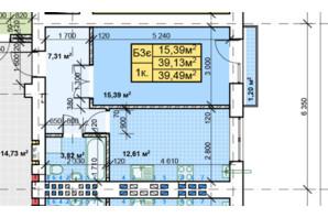 ЖК Парковый: планировка 1-комнатной квартиры 39.49 м²