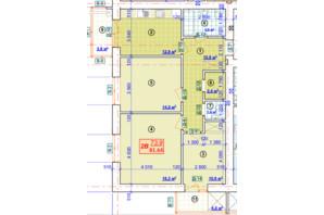 ЖК Парковый: планировка 3-комнатной квартиры 81.64 м²