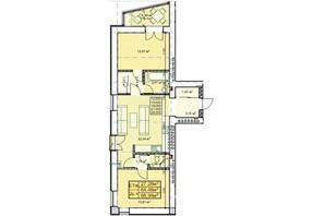 ЖК Парковый: планировка 2-комнатной квартиры 68.94 м²