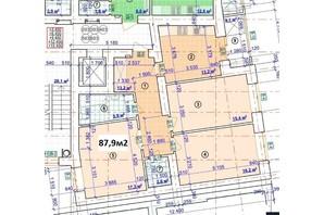 ЖК Парковый: планировка 3-комнатной квартиры 87.9 м²