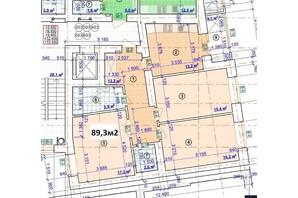 ЖК Парковый: планировка 3-комнатной квартиры 89.3 м²