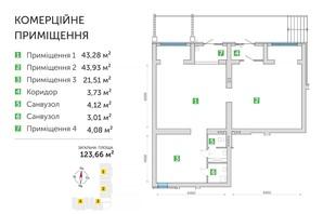 ЖК Парковий квартал 3: планування приміщення 123.66 м²