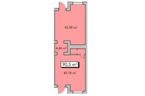 ЖК Парковый квартал: планировка помощения 90 м²