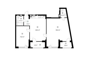ЖК Parktown: планування 2-кімнатної квартири 86.1 м²